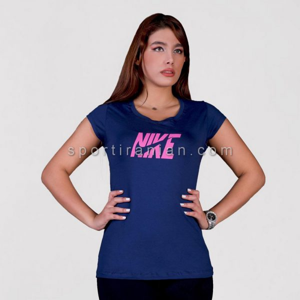 تیشرت ورزشی زنانه یقه گرد نایک NIKE کد 1558