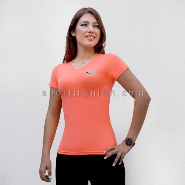 تیشرت ورزشی زنانه یقه گرد کد 1556