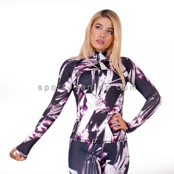 لباس ورزشی آستین بلند زنانه نایک NIKE کد 1204
