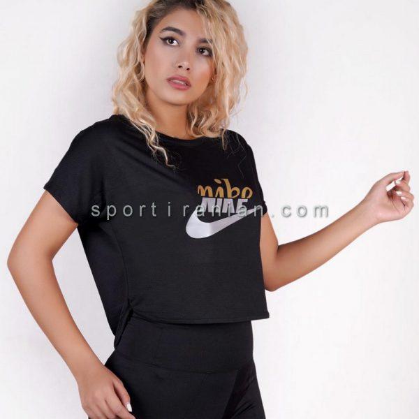 تیشرت ورزشی زنانه یقه گرد نایک NIKE کد 1576