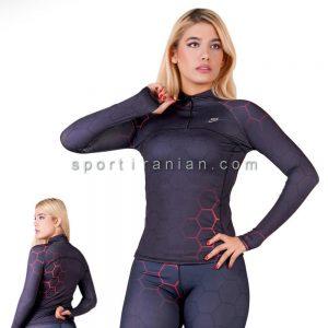 لباس ورزشی آستین بلند زنانه نایک NIKE کد 1203